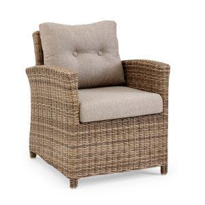 """Плетеное кресло из искусственного ротанга """"Soho rustic"""". Brafab, Швеция."""