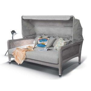 """""""фото Плетеная кровать из искусственного ротанга Лабро»."""