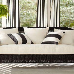 Плетеный искусственный диван