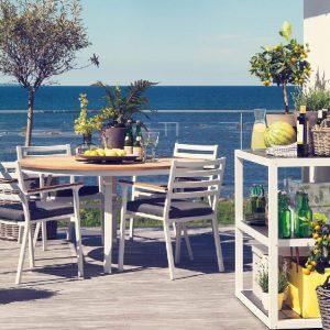 Мебель садовая из алюминия