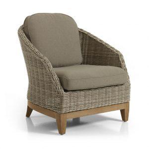 Плетеное кресло из искусственного ротанга Ontario. Brafab, Швеция.