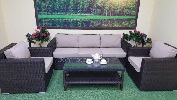"Плетеный диван ""Acoustic"" brown, 215 х 85 см"