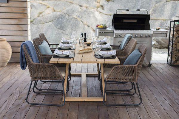 """Обеденный стол из тика """"Laurion"""", 230×100 см"""