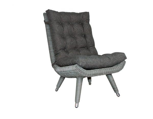 """Кресло из ротанга """"Silva grey"""" без подлокотников Brafab"""