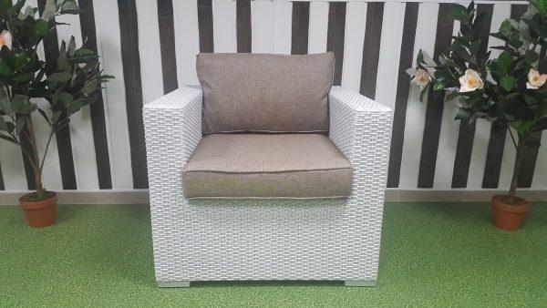 """Плетеное кресло """"Louisiana"""" white beige"""