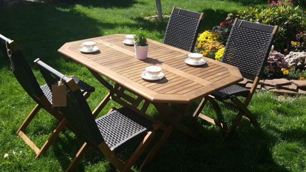 Садовая мебель «Ever ton brown» на 4 персоны