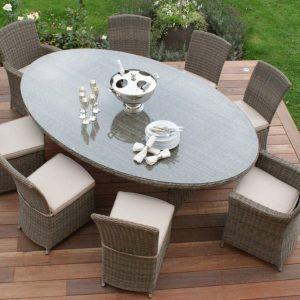Плетеные столы обеденные и кофейные