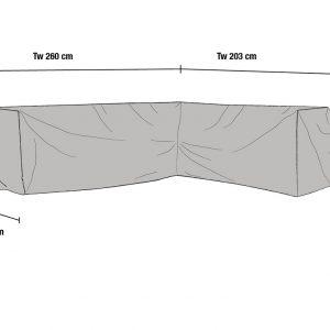 Чехол для углового дивана, 203x260/80x86 см