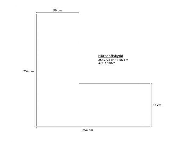 Чехол для углового дивана, 254/254x90x66 см