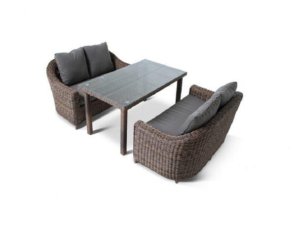 """Комплект плетеной мебели """"Кон Панна Дабл"""", обеденная группа"""