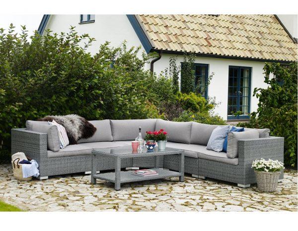 "Плетеная мебель ""Ninja grey"" lounge Brafab"