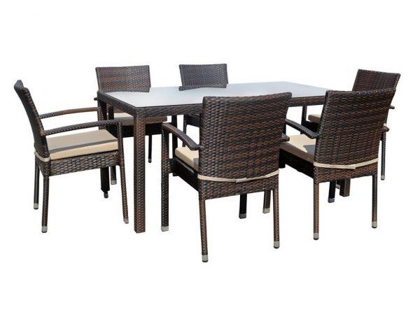 """Плетеный стол """"Milano brown"""" 150×90 см"""