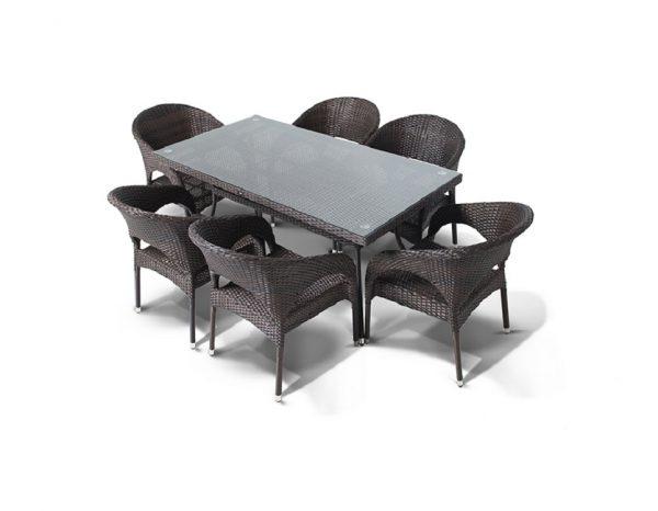 """Комплект плетеной мебели """"Торре"""", обеденная группа"""