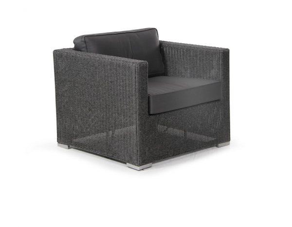 """Плетеное кресло """"Brookline"""", цвет серый"""