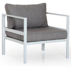 "Кресло садовое ""Leone"", цвет белый/серый Brafab"