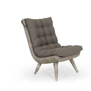 """Кресло из ротанга """"Silva beige"""" без подлокотников Brafab"""