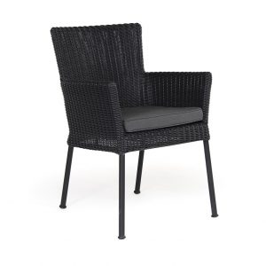 """Кресло из ротанга """"Somerset"""", цвет черный"""