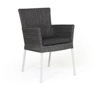 """Кресло из ротанга """"Somerset"""", цвет серый/белый"""