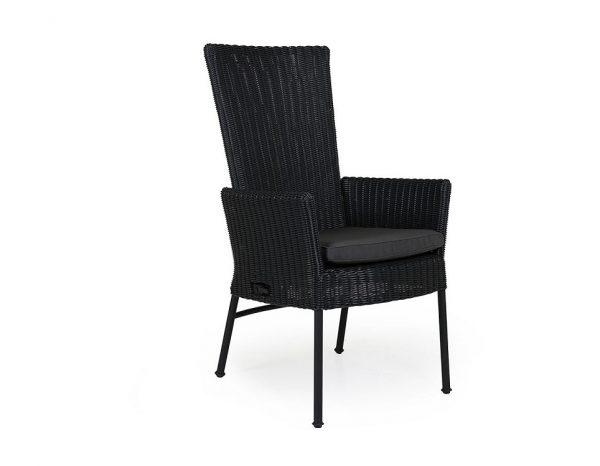 """Кресло из ротанга """"Somerset"""" регулируемое, цвет черный"""