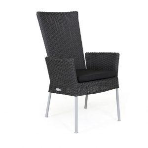 """Кресло из ротанга """"Somerset"""" регулируемое, цвет серый/белый"""