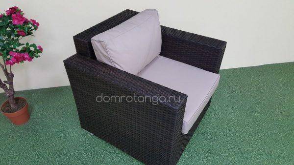 """Плетеное кресло """"Acoustic"""" brown"""