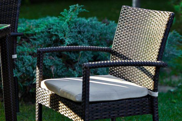 """Плетеный стул """"Milano brown"""" с подлокотниками"""