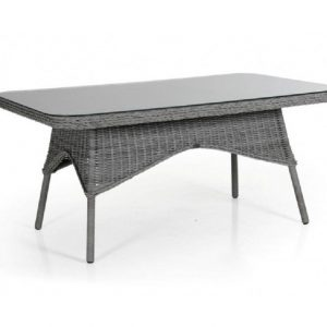"""Стол плетеный """"Evita grey"""" 150 см, цвет серый"""