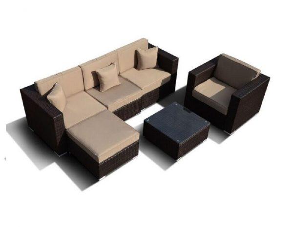 """Плетеная мебель """"Альер"""", цвет коричневый"""