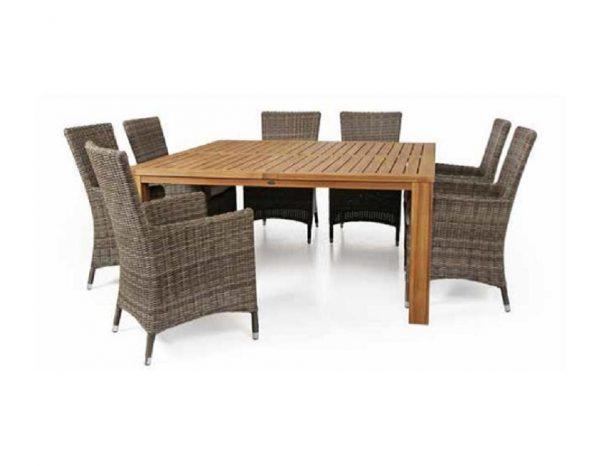 """Стол из тика """"Tinos"""", 160×160 см"""