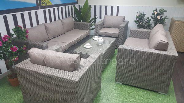 Плетеная мебель «Louisiana» patio set mocco