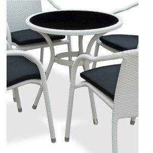 "Плетеный стол ""Lotus"", цвет белый"