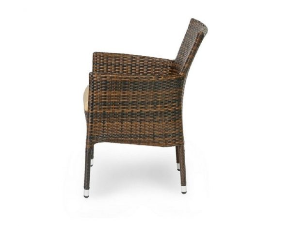 "Плетеное кресло ""Aroma dark brown"", обеденное"