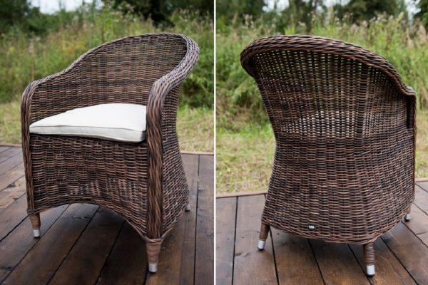 """Плетеное кресло """"Равенна"""", цвет темно-коричневый"""