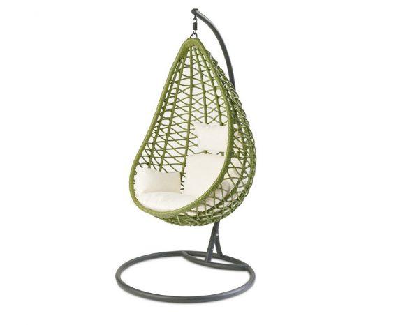 """Подвесное плетеное кресло """"Aura green"""""""