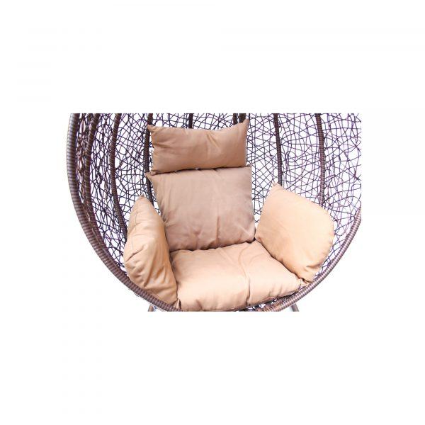 """Подвесное плетеное кресло """"Desert"""" KM-0001 dark big"""