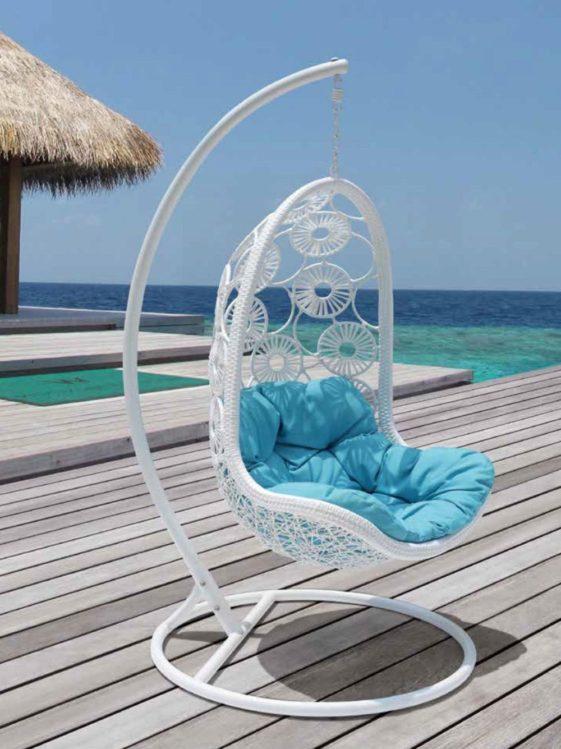 """Подвесное плетеное кресло """"Flowers"""""""