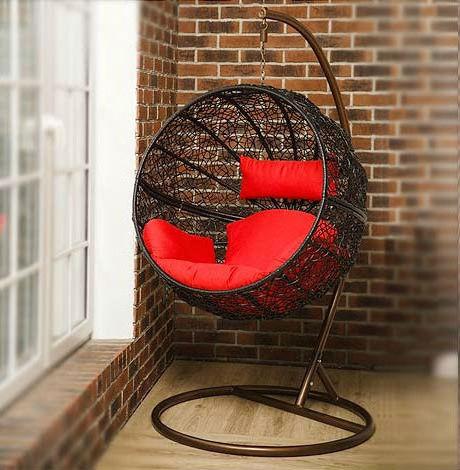 """Подвесное плетеное кресло """"Tropica Black"""""""