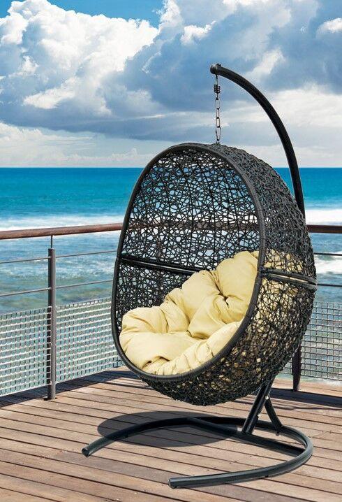 """Подвесное плетеное кресло """"Lunar Black"""""""