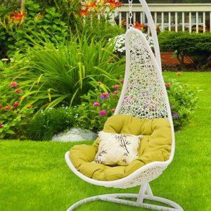 "Подвесное плетеное кресло ""Wind White"""