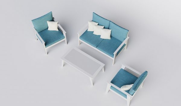 """Комплект садовой мебели из алюминия """"Riposo"""""""