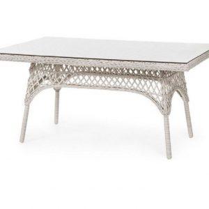 Плетеный стол «Beatrice white», 150 х 90 см