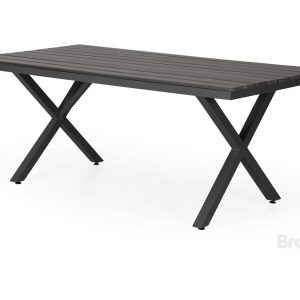 """Стол садовый алюминиевый """"Leone"""" 200 черный Brafab"""