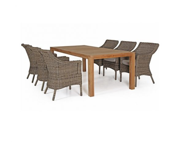 """Стол из тика """"Leros"""", 220x100 см"""