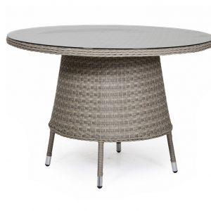 """Стол из искусственного отанга """"Colby beige"""" D 110 см"""