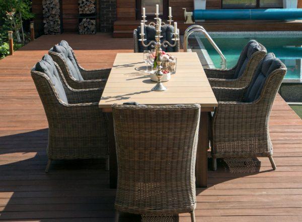 """Плетеное кресло """"Бергамо"""", цвет коричневый"""