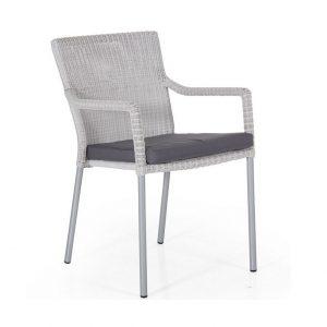 """Кресло из искусственного ротанга """"Rosewille"""", цвет белый"""
