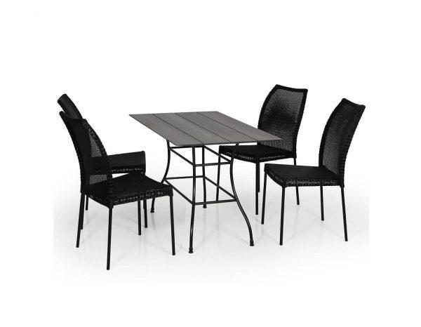 """Плетеный стул """"Angelica"""", цвет черный"""