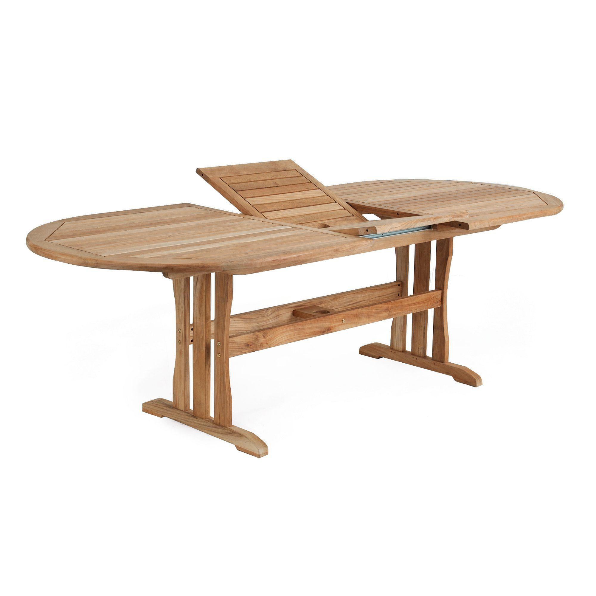"Стол из тика раскладной ""Melbourne"", 190-240x100 см"