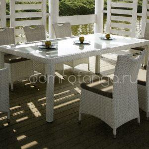 Плетеная садовая мебель «Orient» white