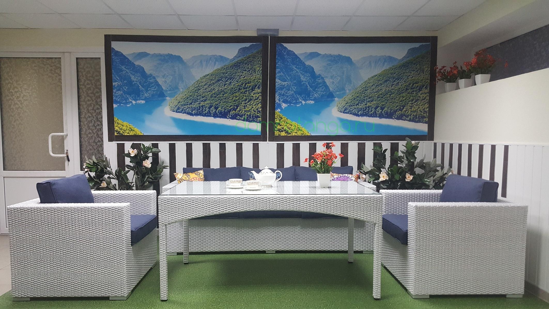 Плетеная мебель «Louisiana» dining lounge set